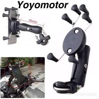 FREE DELIVERY MOTORCYCLE 6 GRIPS HP HOLDER(handle bar mount)👍👍👍