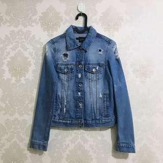 Stradivarius ripped jacket jeans