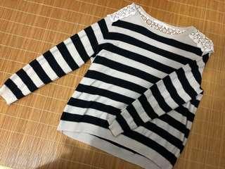 💕割譲💕型格橫間針織上衣 (原價$499,包平郵)