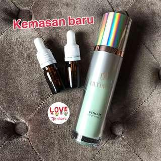 Ultima II delicate under make up primer moisture lotion tint aquafleur share in botol pipet 5 ml dan 10 ml