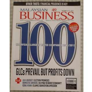 Malaysian Business - Past Issue : 40 YEARS ANNIVERSARY (1972-2012)