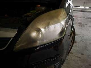 Opel zafira headlight restore