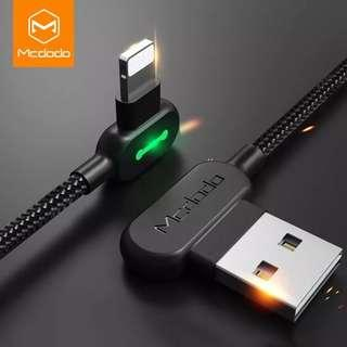Mcdodo data cable and fast charging cable