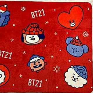(Pre-order) BT21 Graphic Wool Blanket Christmas Limited Edition