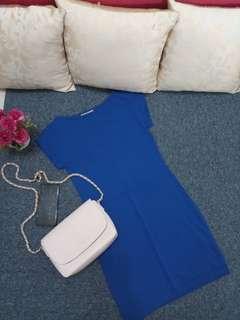 Uniqlo Bodycon Navy Blue Dress