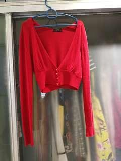 Chilli Red Soft Long Sleeve Cardigan
