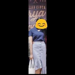 Ruffle skirt korea #CNY2019