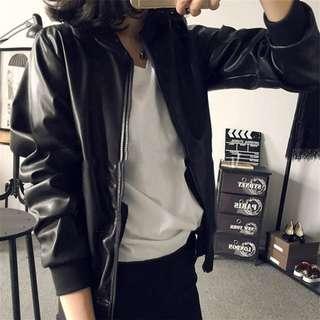 Black Bomber Jacket