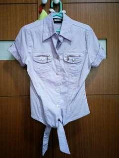 🚚 JOJO紫色綁帶襯衫#衣櫥大掃除