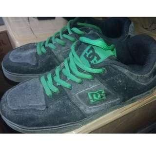 DC Black and Green Shoes