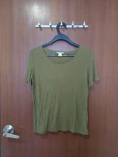 🚚 #Next30 Monki olive green basic top blouse