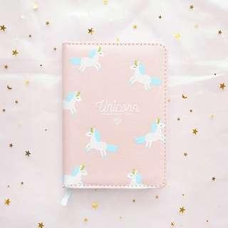 New a6 pink unicorn diary