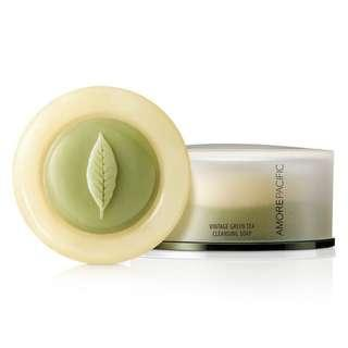 Amorepacific 綠茶活肌潔顏皂 VINTAGE GREEN TEA CLEANSING SOAP #LadiesXmasGift