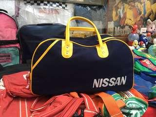 Vintage Nissan Duffle bag blue