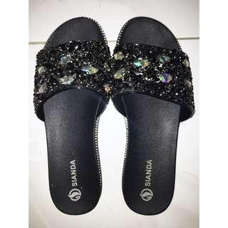 Decorated Slides/Slippers (size 38-39)