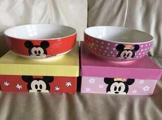 Micky and Minnie 8吋 超大碗 一對