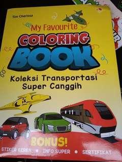 Buku Mewarnai Koleksi Transportasi Super Canggih