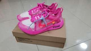 Nike X Off-white Zoom Fly ( pink US 9.5) Off white