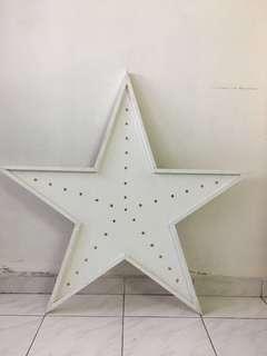 Star shape wood deco