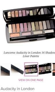 Lancome Eyeshadows Audacity in London