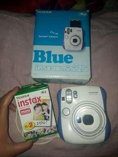 Instax mini 25 blue free refill 20 lembar