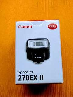 For  sale brand new Canon flash 270EX II