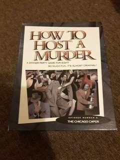 Dinner party game, how to host a murder