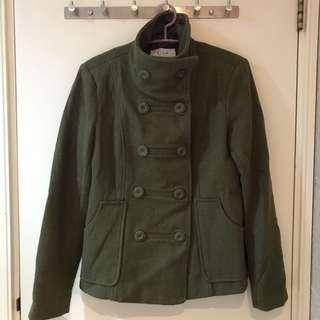 VILA Vision Double Breasted Jacket 混羊毛孖襟褸