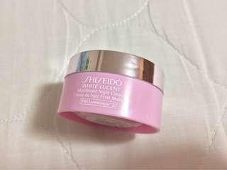 Shiseido White Lucent Night Cream 晚霜 sample size travel size 旅行裝 試用 試用裝 日霜 面霜 美白 眼霜 淡斑 色素 去印 色斑 暗瘡印 痘痘印 去黃 去斑 袪斑 黑眼圈
