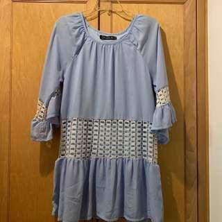 Ohvola baby blue dress