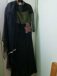 長身裙  black maxi