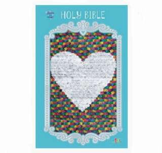 BN Flip Sequins Sparkle and Change ICB Holy Bible: Blue, Rainbow