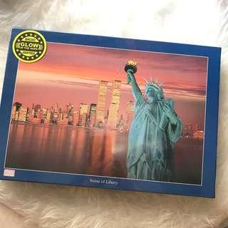 Glow in the dark Statue of Liberty Jigsaw puzzle