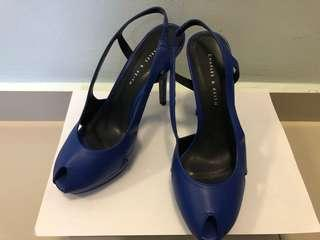 Charles & Keith Navy Blue High Heels (100% New)