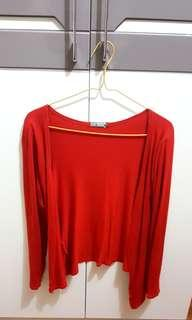 Red Cardigan (fit to L)