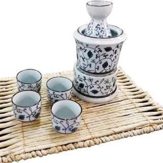 Sake set with warmer