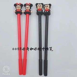 12 pcs. Minnie and mickey gel pens
