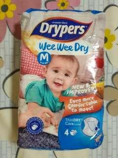 2 packets Drypers Wee Wee Dry Size M
