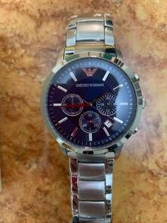 Armani Classic Blue Dial Watch