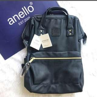 Anello leather backpack (navy blue)