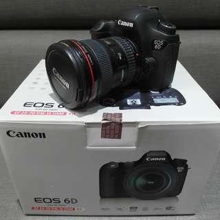 【出售】Canon 6D 全幅機 數位單眼相機 彩虹公司貨 盒裝完整 9.5成新 (快門數只有5千)