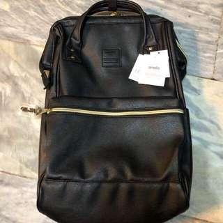 Anello leather backpack (black)