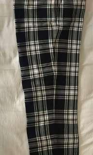 Plaid Cigarette Pants