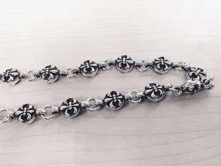 "925 Silver high quality cross style necklace for men ! Very beautiful and detail. 75g 24"" inch - very unique「925純銀項鍊,高質重身,非一般貨色」"