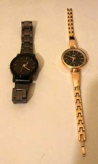 手錶兩支(男女)九成新一支500