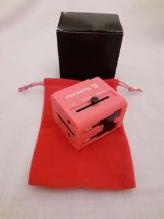 🚚 BNIB Pink Universal Adapter with USB Charger!