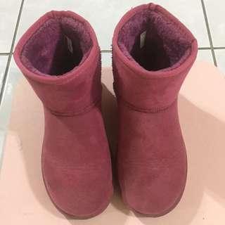 🚚 桃紅雪靴