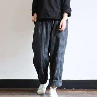 Harem flannel casual trousers pants