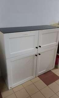 Half height cabinet with glass top, used. *Clearance*
