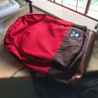 韓國 MBL red backpack bag major league baseball 紅色 咖啡色 背囊 書包 背包